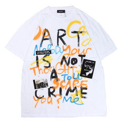 Hand Painted T-sh (WHT)