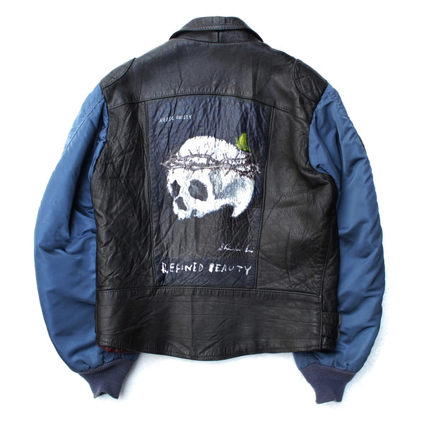 Vintage Custom Leather Jacket (BLK)