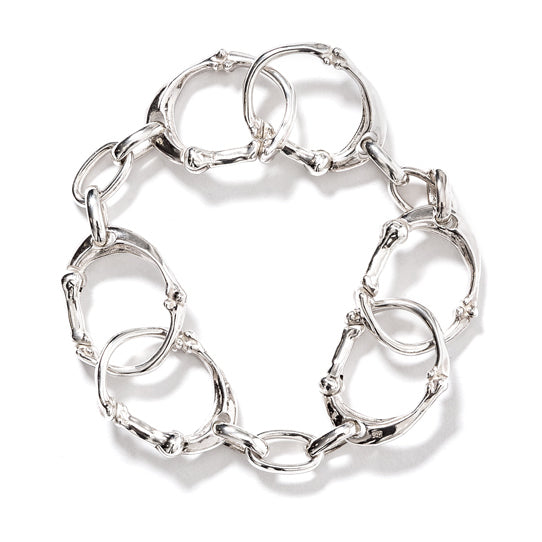 bone shaped carabiner bracelet (SIL/S)