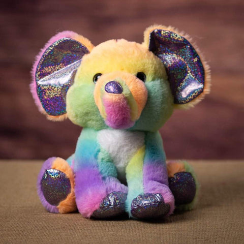 11 Inch Sherbet Ice Cream Elephant with a sparkly nose and claws -front