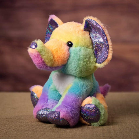 11 Inch Sherbet Ice Cream Elephant with a sparkly nose and claws -side