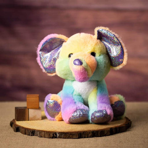 11 Inch Sherbet Ice Cream Elephant with a sparkly nose and claws