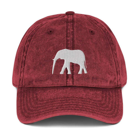 elephant-vintage-cotton-twill-cap-embroidered-cap-maroon