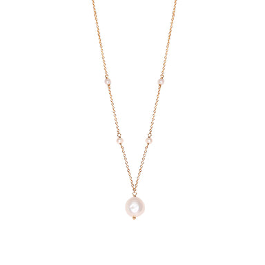 Pearl Pendant Necklace w/ Yellow Gold