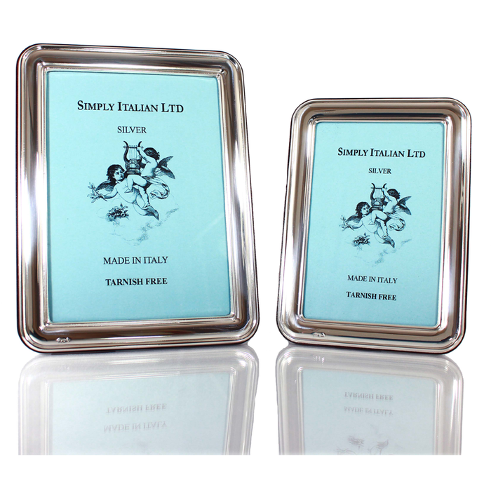 Bilaminato Light Silver Rounded Frame - Large