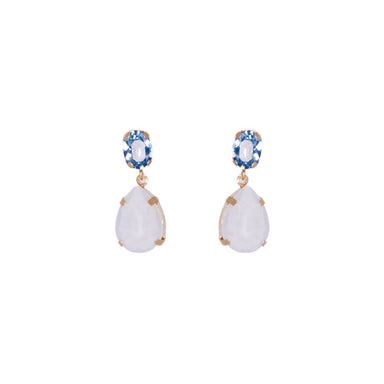 Blue Crystal Stud and Teardrop Earrings