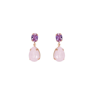 Blush Crystal Stud and Teardrop Earrings