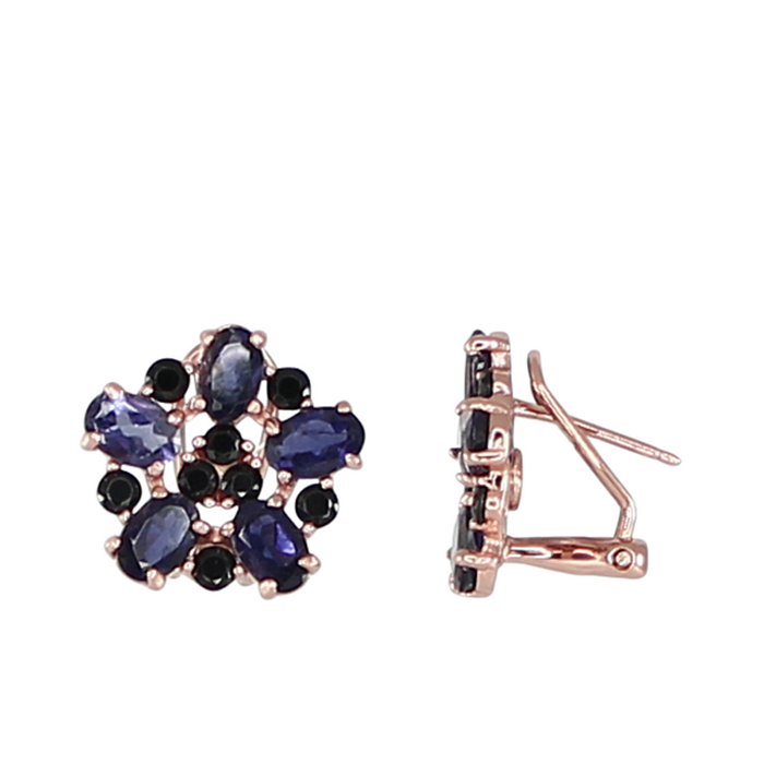 Iolite Flower Earrings