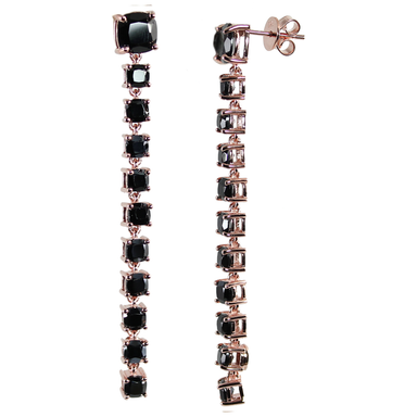 Spinel Graduated Drop Earrings