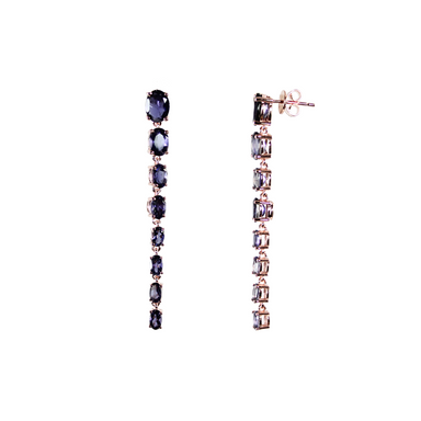 Iolite Graduated Drop Earrings