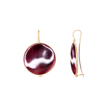 Dark Shell Disc Earrings