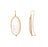Mother-of-Pearl Oval Earrings