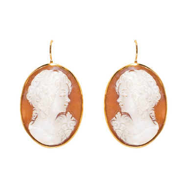 Cameo & Rose Gold Earrings