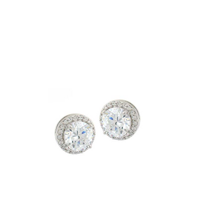 Large Double Round Stud Earrings