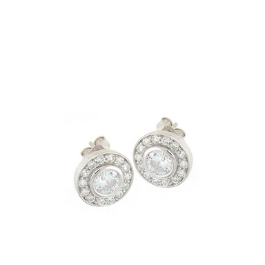 Double Round Stud Earrings