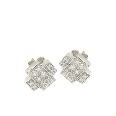 Crossed Stud Earrings