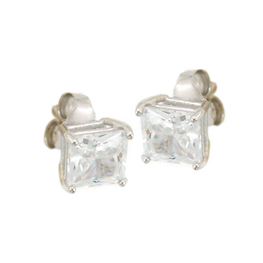 Large Square Stud Earrings