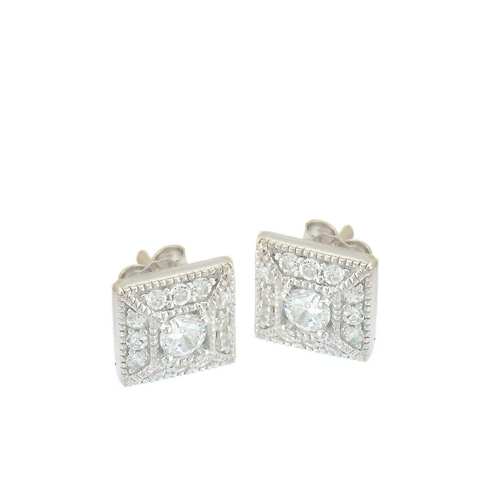 Deco Square Stud Earrings