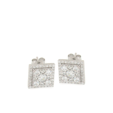 Multi Square Stud Earrings