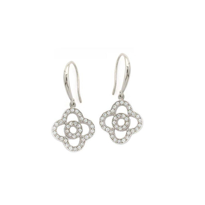 Cutout Clover Earrings