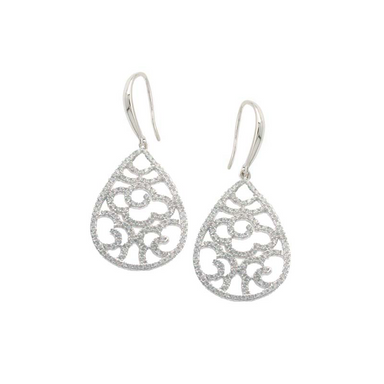Cut-out Teardrop Earrings