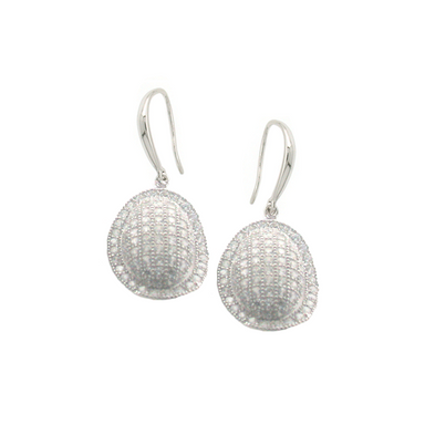 Domed Drop Earrings