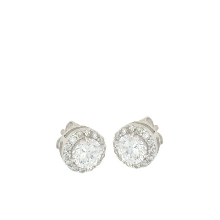 Small Round Flower Stud Earrings