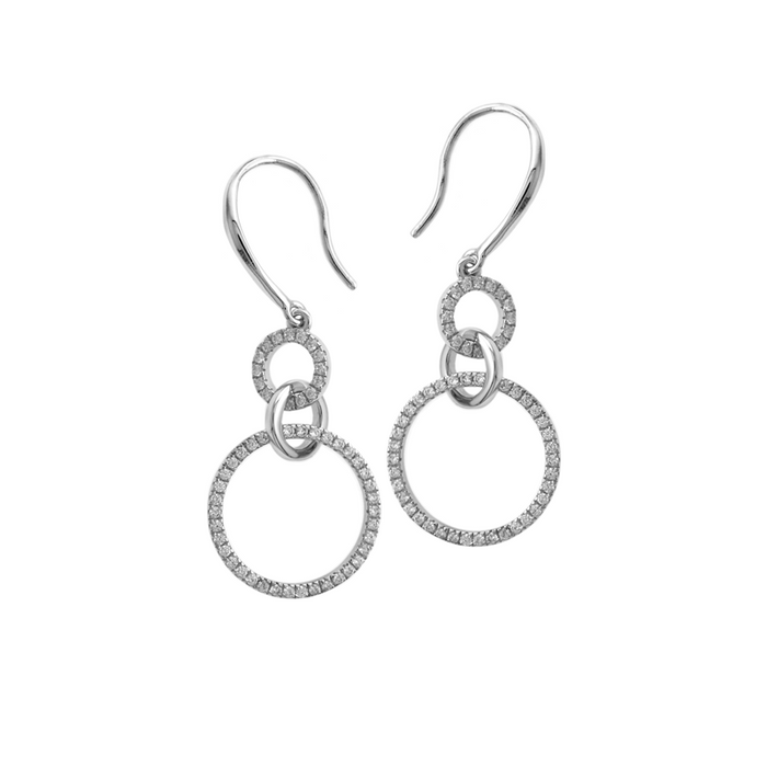 Double Circle Drop Earrings