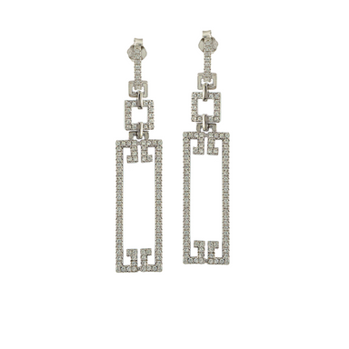 Deco Rectangle Earrings