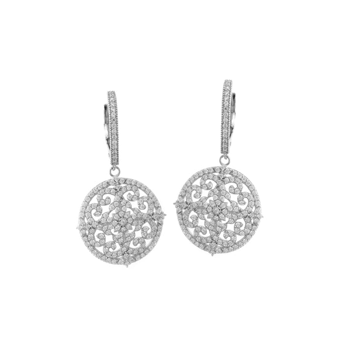 Snowflake Sliver Drop Earrings