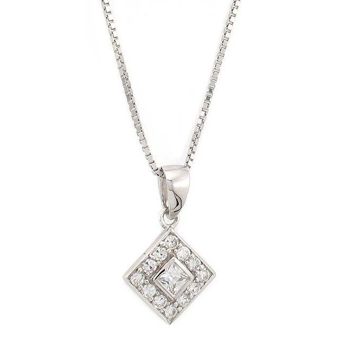 Diamond-Shaped Pendant
