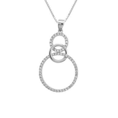 Double Crystal Circle Pendant