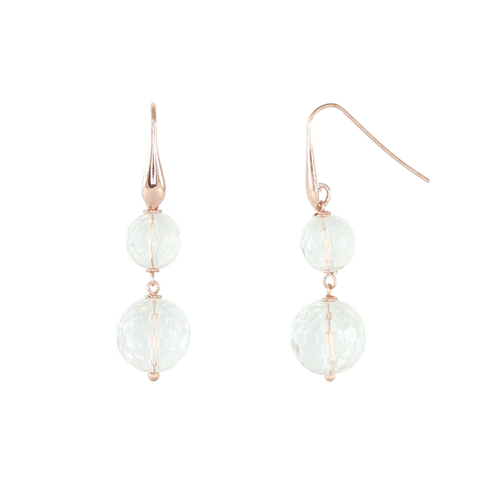 Bright Crystal Double Drop Earrings