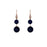 Dark Blue Agate Drop Earrings