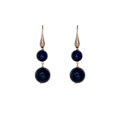 Onyx Double Drop Earrings