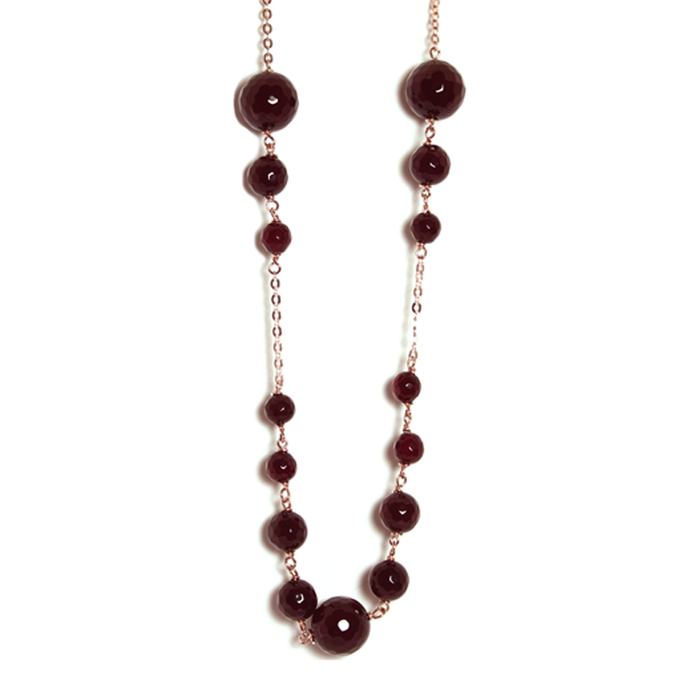 Ruby Agate Necklace - 80cm