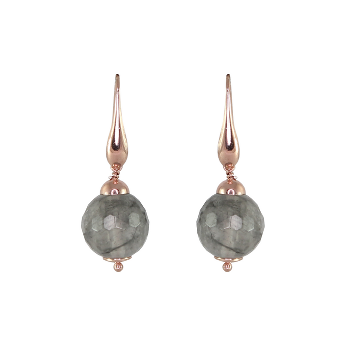 Cloudy Quartz Drop Earrings (Small)