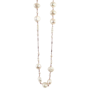 White Pearl Necklace - 70cm