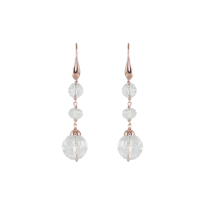 Triple Crystal Drop Earrings