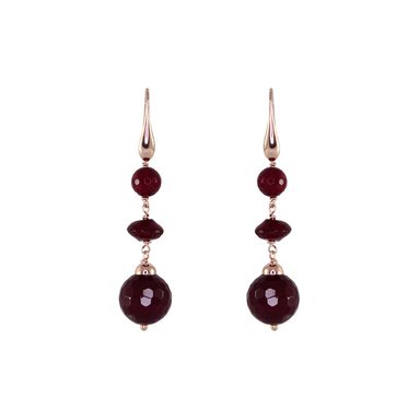 Triple Red Drop Earrings