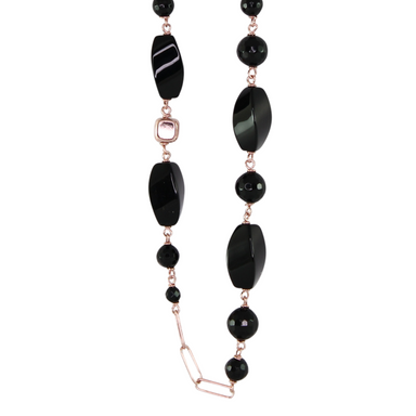 Black Onyx Necklace - 100cm