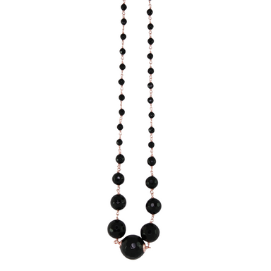 Black Onyx Necklace - 56cm