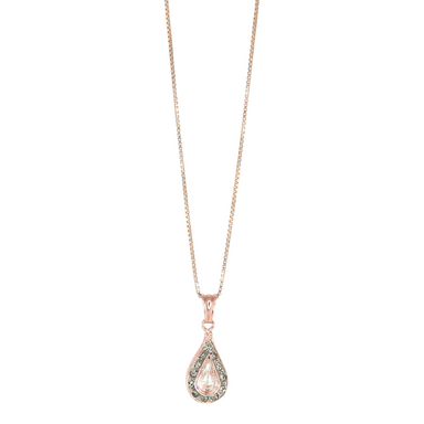 Bright Crystal Teardrop Pendant