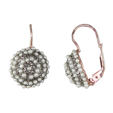 Pearl & Crystal Mound Earrings
