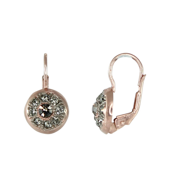 Small Crystal Round Drop Earrings