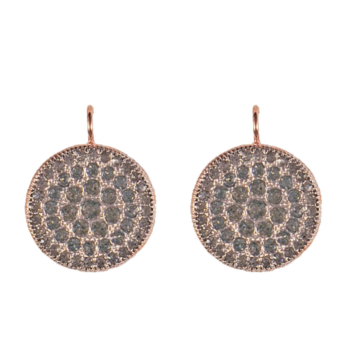 Large Crystal Disc Earrings