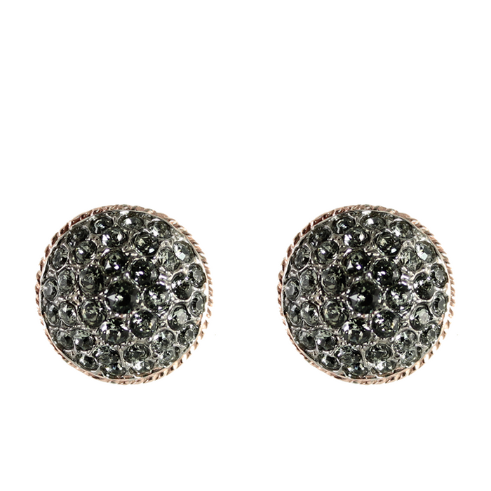Crystal Round Clip-On Earrings