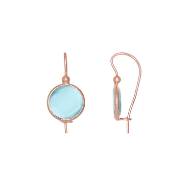 Round Aqua Earrings