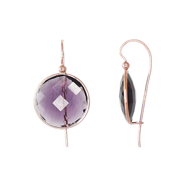 Round Purple Earrings