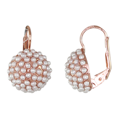 Mounded Pearl Earrings